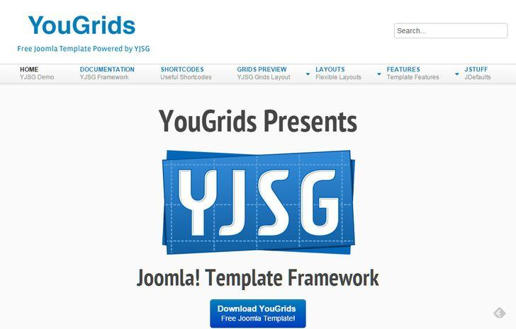 2.YouGrids Free Joomla Template YJSG Powered